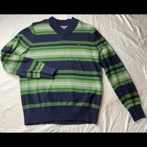 Tommy Hilfiger stripe sweater v neck medium
